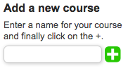 Creating a new course