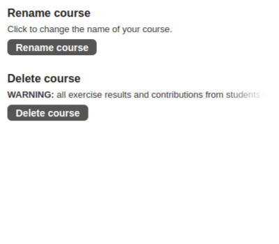 Renaming or deleting a course